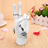 Diamondo Hand Finger Model Jewelry Glove Ring Bracelet Display Stand Holder Rack (white)