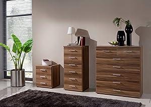 German Imago Berlin Walnut Bedroom Furniture 5 2 Cabinet