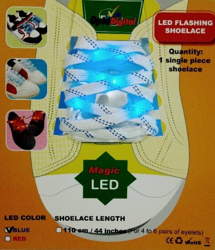 Optodigital Slim Led Flashing Lace With Strip For Pets, Blue