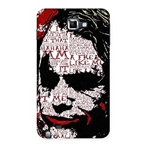 Premier Psyco Typo Back Case Cover for Galaxy Note