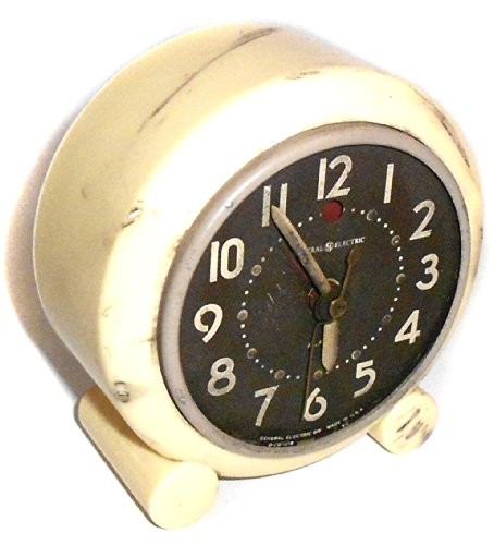 For Parts - Rough Vintage General Electric Model 7H160 Electric Alarm Clock