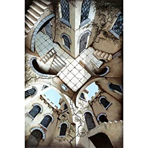 M.C. Escher The Courtyard Art Poster Print