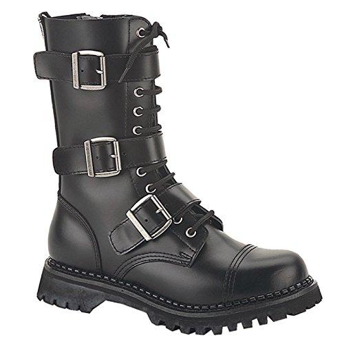 Demonia Riot-12 - scarpe gotiche punk Industrial ranger stivali 36-48, US-Herren:EU-48 (US-M14)