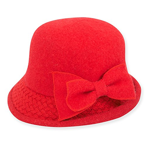 adora-womens-soft-wool-cloche-bucket-hat-with-bow-trim-c-red