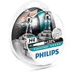 Philips X-tremeVision +130% 12342XV+S2 Scheinwerferlampe,  H4, 2er-Set