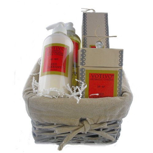 Votivo Red Currant Gift Basket - 4 Items
