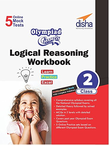Olympiad Champs Logical Reasoning Workbook Class 2 with 5 Mock Online Olympiad Tests
