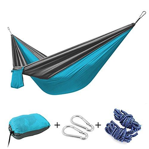 h ngematte iwmh ultra leicht 275 140cm tragbar parachute h ngematte aus fallschirm nylon f r. Black Bedroom Furniture Sets. Home Design Ideas