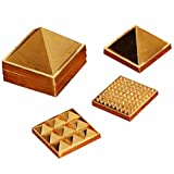 "2"" 91 Pyramids In Total, Wish Pyramid, Metal Pyramid, Vastu Pyramid, Set Of Three Pyramid, Ashtdhatu Vastu Pyramid"