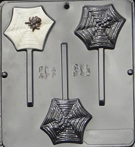 Spider on Web Lollipop Chocolate Candy Mold Halloween