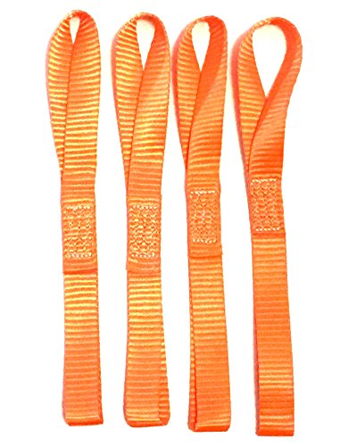 12-Soft-Straps-4-pack-2300-LB-Heavy-Duty-Orange-Tie-Down-for-Motorcycle-ATV-Snowmobile-Dirt-Bike-Boats-Truck-Cargo-to-Prevent-Scratches