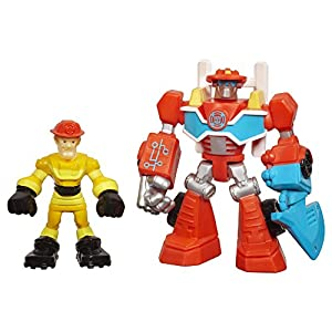 Playskool Heroes Transformers Rescue Bots Energize Heatwave The Fire-Bot and Kade Burns (Pack of 2)