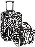 Rockland Luggage 2 Piece Printed Luggage Set, Zebra, Medium