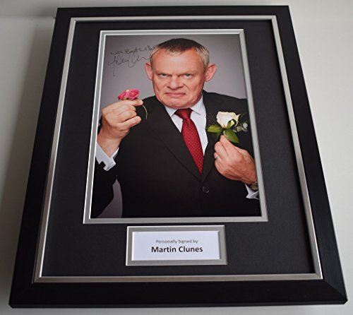 sportagraphs-martin-clunes-signed-framed-photo-autograph-16x12-display-doc-martin-aftal-coa-perfect-