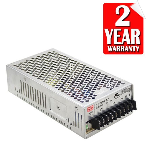 Meanwell Enclosed 200W 12V Ul Approved 120 To 12 Volt Dc Output 3 Year Warranty Led Power Supply Driver Switching Transformer (Warranty By Ledjump)