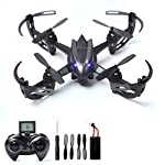 RC Drone with 2MP HD Camera Live Video RC Quadcopter 4CH 6-Axis Gyroscope 2.4 GHz Remote Control Quadcopter(4G SD Card & Card Reader Included)