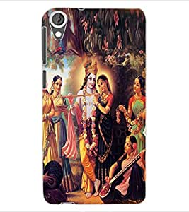 ColourCraft Radha Krishan Design Back Case Cover for HTC DESIRE 820