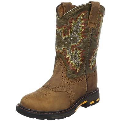 Ariat Workhog Pull-On Western Boot (Toddler Little Kid Big Kid) by Ariat