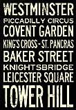 London Underground Vintage Stations Travel Poster - 13x19
