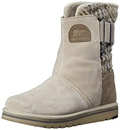 Sorel Women\'s The Campus Mid Plaid Boot, Silver Sage, 8 M US