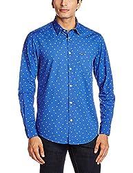 Arrow Sports Men's Casual Shirt (8907259806983_ASRS3020_40_Dark Blue)