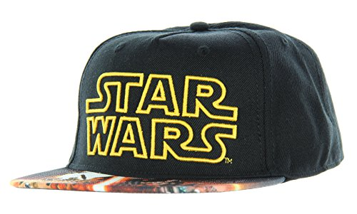 Star Wars Episode VII The Force Awakens Movie Poster Sublimated Bill Snapback