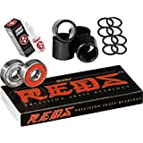 Bones Reds Precision Skate Bearings (8 Pack w/ Spacers & Washers & Speed Cream)