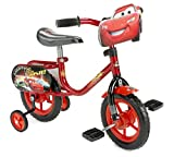 Huffy Disney Cars Sidewalk Bike, Red/Black, 10-Inch