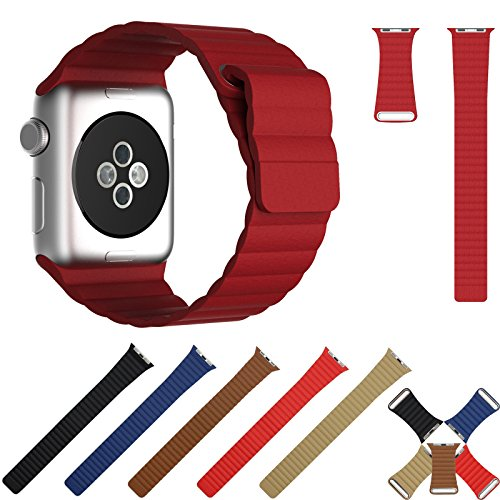 apple-watch-band-mrpro-42mm-premium-soft-leather-loop-band-magnet-lock-strap-replacement-band-for-ap