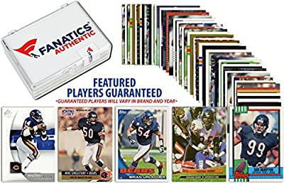 Chicago Bears Team Trading Card Block/50 Card Lot - Fanatics Authentic Certified - Football Team Sets