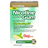 GoodSense Nicotine Polacrilex Gum, Mint, 110 Count, 4mg