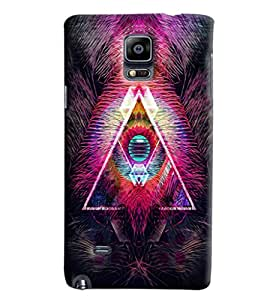 Blue Throat Fire Effect Printed Designer Back Cover/Case For Samsung Galaxy Note 4