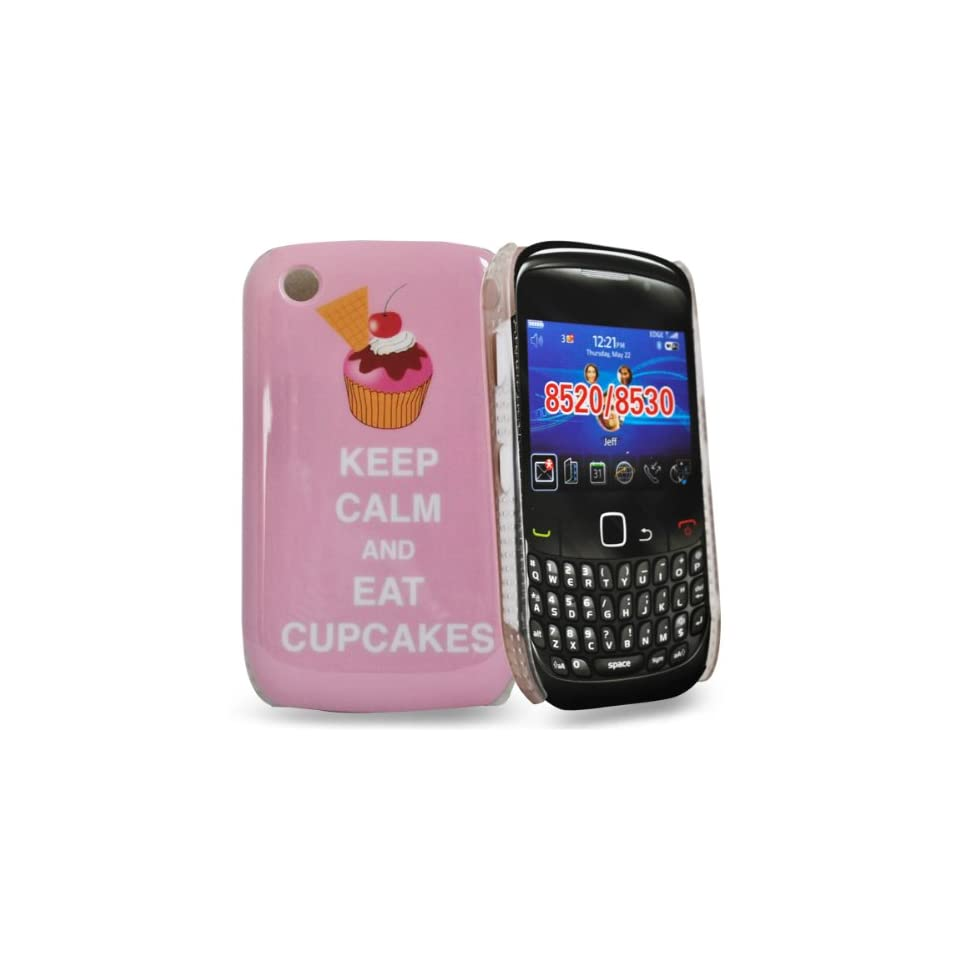 Mobile Palace   Pink hard case cover design KEEP CALM AND EAT CUPCAKES for blackberry curve 8520