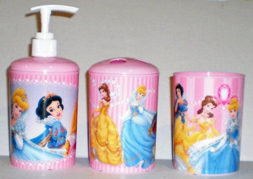 Disney Princess 3-Piece Bathroom Accessories Set