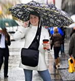 HANDS-FREE UMBRELLA MESSENGER BAG - STAY DRY WITHOUT HAVING TO HOLD YOUR UMBRELLA (BLACK)