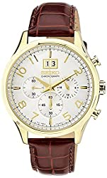 Seiko Dress Chronograph White Dial Mens Watch - SPC088P1