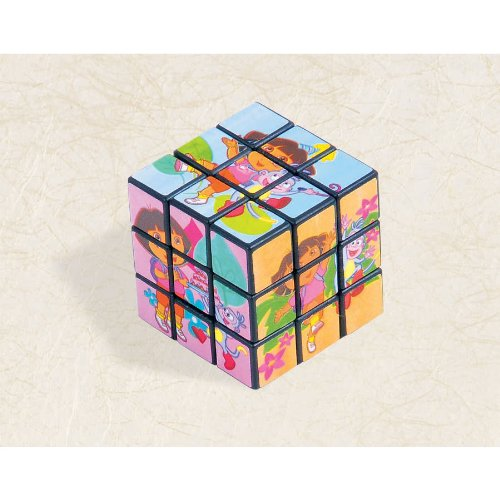 "Dora The Explorer Puzzle Cube Favor for Parties and Celebrations, 1-1/8 x 1-1/8 x 1-1/8"", Multicolored"