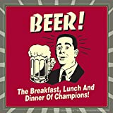 BCreative Beer! The Breakfast, Lunch And Dinner Of Champions! (Officially Licensed) Poster Small 12 X 12 Inches...