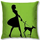 Right Digital Printed Clip Art Collection Cushion Cover RIC003a-Green
