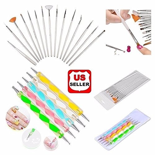 Glam Hobby 20pc Nail Art Manicure Pedicure Beauty