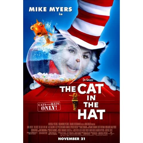 Amazon.com: CAT IN THE HAT MOVIE POSTER 2 Sided ORIGINAL