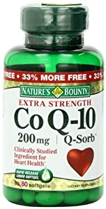 Nature's Bounty Co Q-10, Extra Strength, 200mg Bonus (value Size), 80 Softgels
