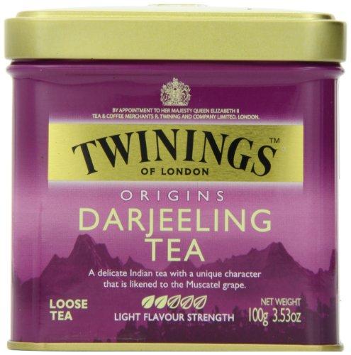 Twinings Darjeeling Tea, Loose Tea, 3.53-Ounce Tins (Pack of 6)