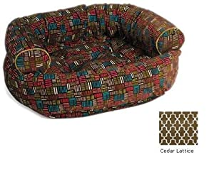 "Double Donut Bolster Dog Bed Size: Small (27"" L x 22"" W), Color: Houndstooth"