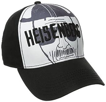 Breaking Bad Men's Heisenberg Baseball Cap, White, One Size