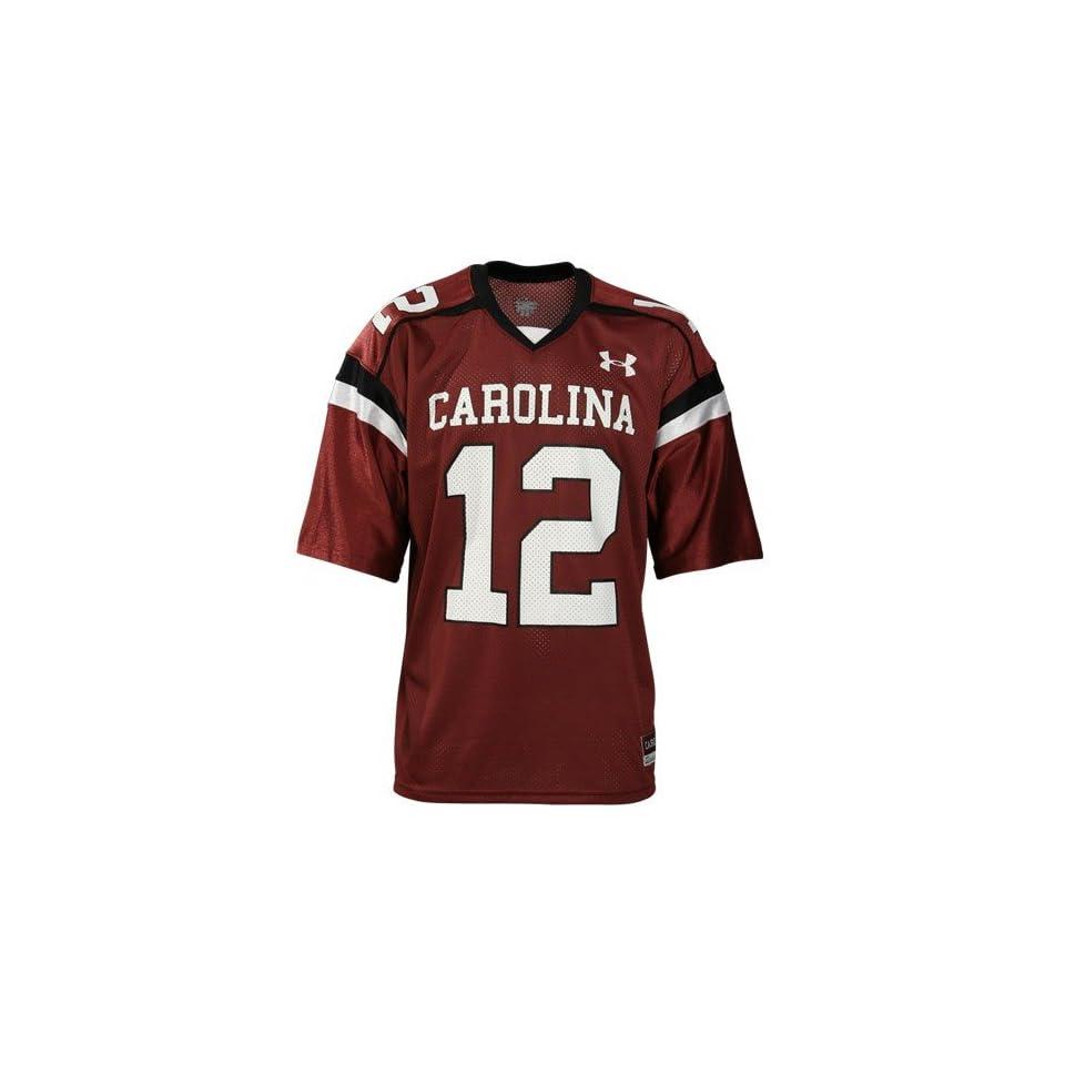 Under Armour South Carolina Gamecocks #12 Garnet Replica Football Jersey
