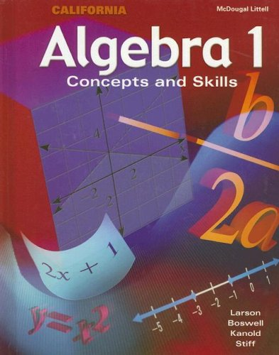 Algebra 1: Concepts And Skills California Edition