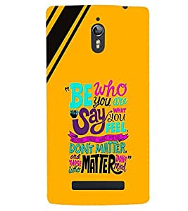 printtech Matter Quote Back Case Cover for  Oppo Find 7 : Oppo Find 7 QHD