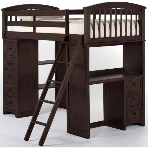Kids Loft Beds With Desk 8806 front