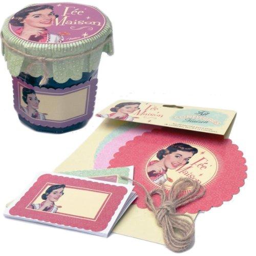Kit Set d'étiquetage pour Confitures FÉE MAISON Charlottes Étiquettes Pot - Natives